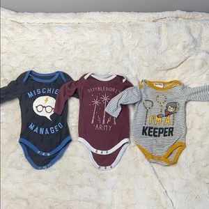 Set of Harry Potter 6-9 month onsies!